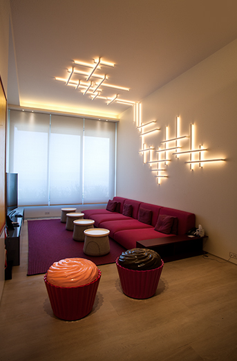 Attractive Private Residence Type: Residential Location: Lebanon Lighting Design:  Hilights